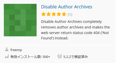 Disable Author Pages